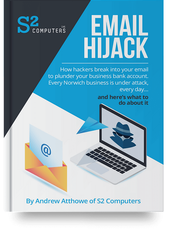s2 computers norwich norfolk it business specialists it service cyber security email hijack book cover